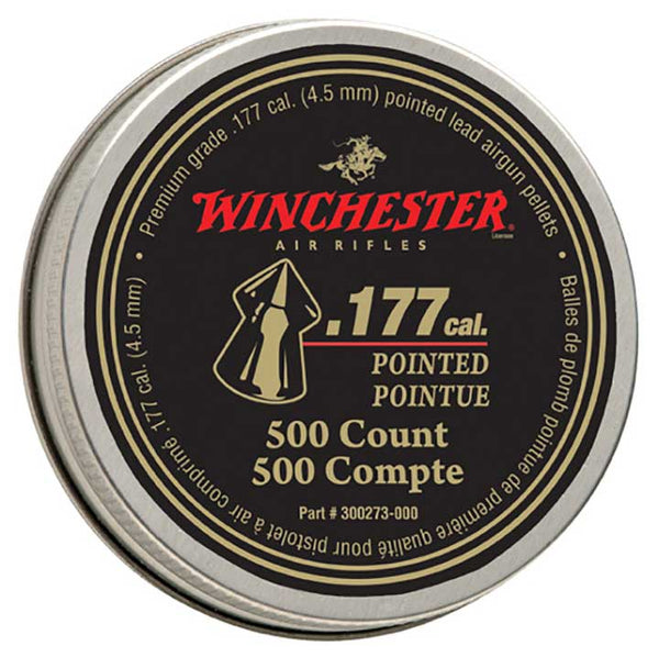 Winchester Pointed .177 Caliber Pellets 500 count