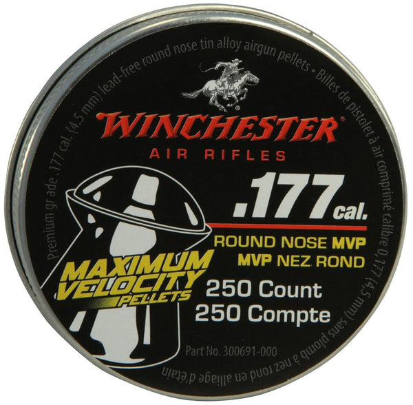 Winchester Maximum Velocity .177-Caliber Air Gun Pellets-250 count