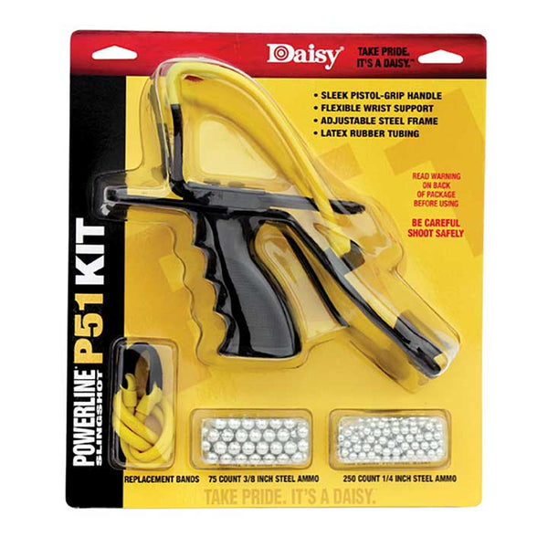 Daisy P51 Slingshot Kit Model 8153 Yellow Black 8 Inch