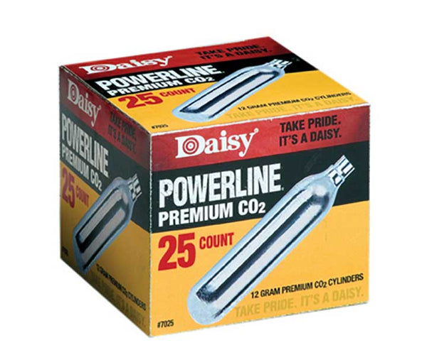 Daisy Outdoor Products CO2 Cylinder 25 Count Silver 12gm