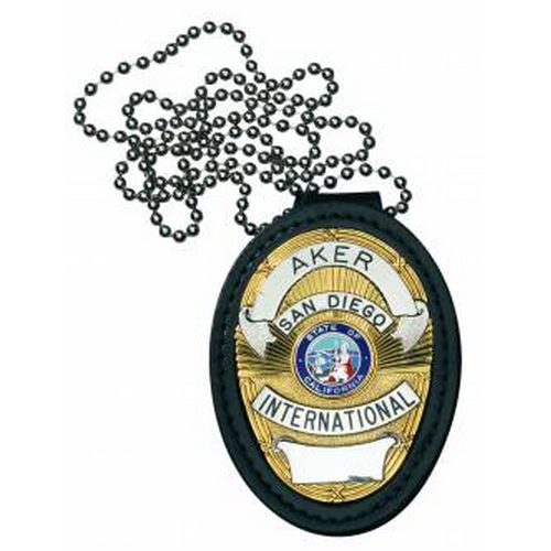 691 Recessed Federal Badge Holder Color: Black