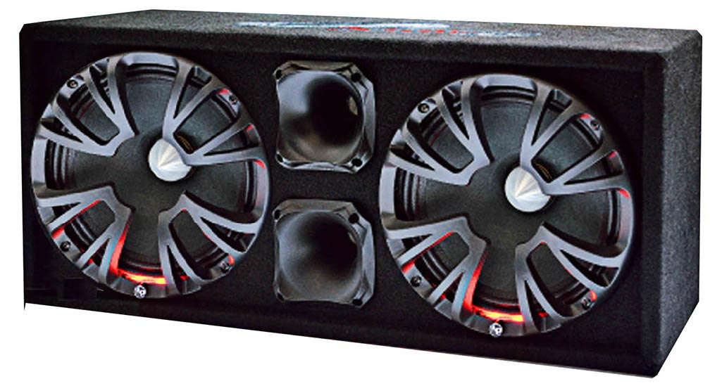 "Audiopipe High Performance Sealed Enclosure 10"" 600W Max"
