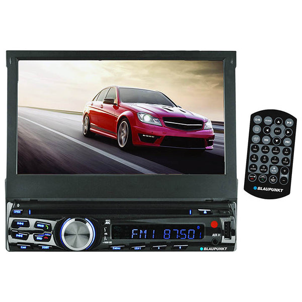 "Blaupunkt single din DVD/CD receiver with 7"" touch screen and Bluetooth"