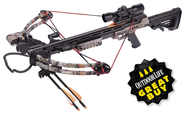 Center Point Sniper Camo Compound Crossbow