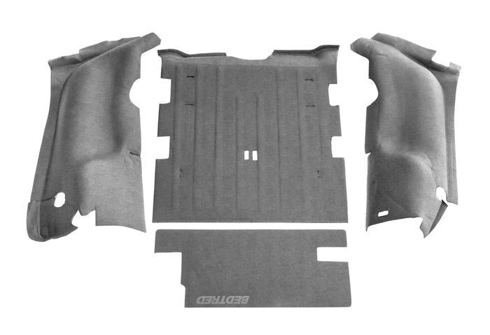 BEDRUG JEEP BEDTRED 97-06 JEEP TJ 97-06 REAR 4PC CARGO KIT (INCLUDES TAILGATE)