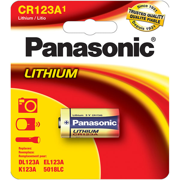 Panasonic CR123A 1-Pack Lithium