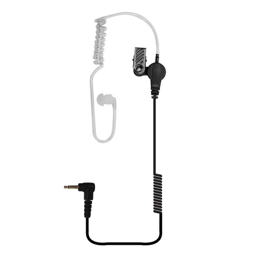 Acoustic Tube Earpiece with 14  coiled cord and 2.5 mm connector for any radio or remote microphone with a 2.5mm earphone jack.