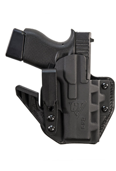 Ride height adjustable clip maximizes master grip  Kydex shell enables easy re-holster  Features two ply leather backing for superior comfort