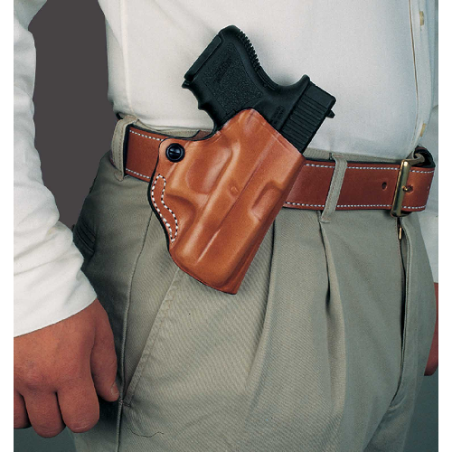 Mini Scabbard Belt Holster Color: Black Gun Fit: S&W J Frame 2 -2 1/4  Hand: Right