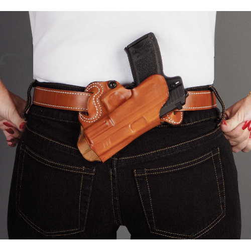 Sob Small Of Back Belt Holster Gun Fit: Colt 1911 (5  bbl) Hand: Right Handed Color: Black