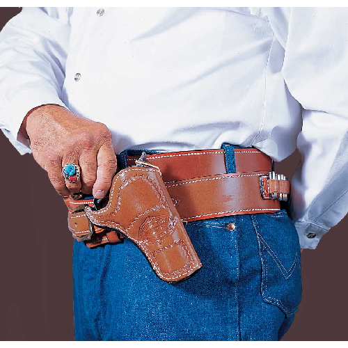Doc Holliday Cross Draw Western Belt Holster Gun Fit: Fits Most SAA 4.75  Guns Hand: Right Handed Color: Tan