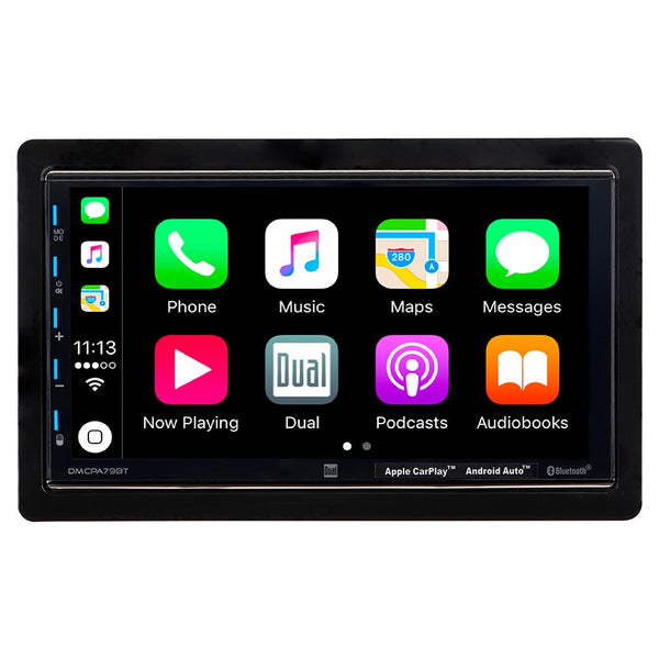 "Dual 7"" Double Din Mechless Digital Media Receiver with Apple CarPlay  Android Auto"