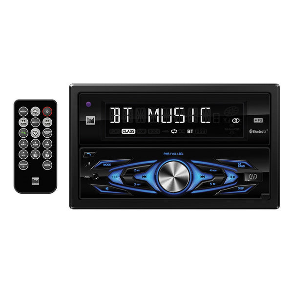 Dual Double DIN CD Receiver with Built-in Bluetooth