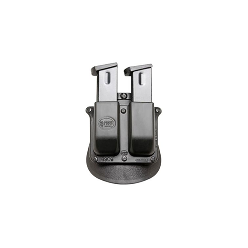Double Magazine Pouch for Most 9mm Double Stack Magazines (not Glock) Belt Holder