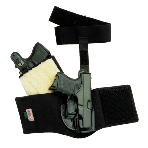 Ankle Glove (Ankle Holster) Color: Black Gun Fit: Charter Arms Bulldog .44 (2.5  bbl) Hand: Right