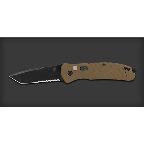 Propel Downrange Auto - S30V Blade, Tan G-10 Handle