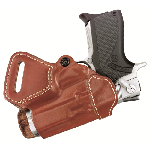 Small of Back Holster  Small of Back Holster Chestnut Brown Finish Fits most compact 1911-type pistols with 3.0 to 3.5 bbl incl. COLT Defender, Officers ACP, 1991 Officer's; KIMBER Ultra Carry, Ultra Elite, Ultra CDP; PARA-ORDNANCE P10, P12 .45, P14 .40; SPRINGFIELD Ultra Co