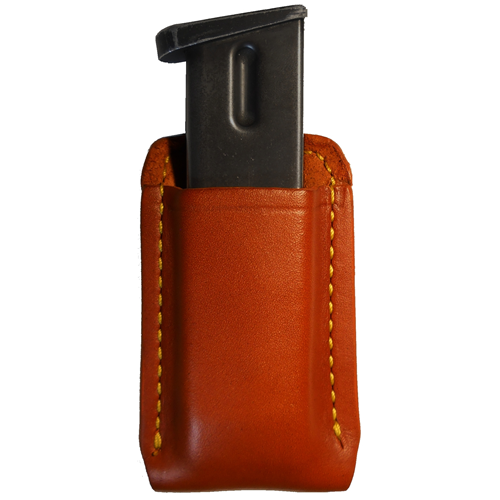 Genuine top grain leather. Open top style. Fits belts up to 1-3/4 in.