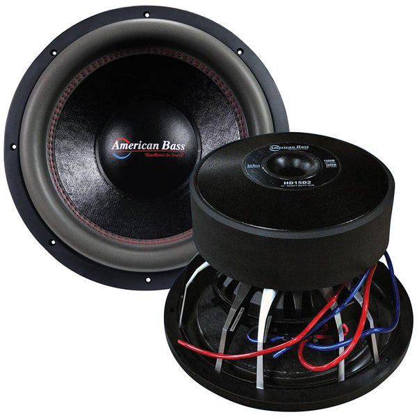 "American Bass 15"" Wooofer 3000 watts max 2 Ohm DVC"