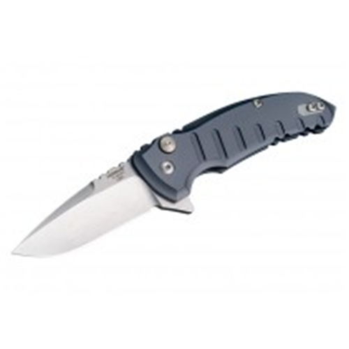X1-Microflip 2.75 Folder Drop Point Blade Tumble Finish Alum Frame - Matte Gray