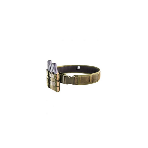LASER Duty Grip Padded Belt Color: OD Green Size: Small