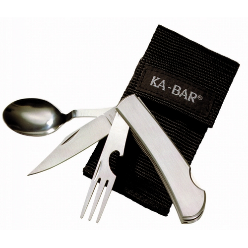 Ka-Bar - STAINLESS FORK/SPOON/KNIFE Packaging: Box Blade Length: 3