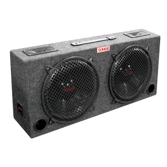 "WOOFER BOX DUAL 12"" XXX 2-WAY LOADED ANGLE STYLE; 500WATTS"