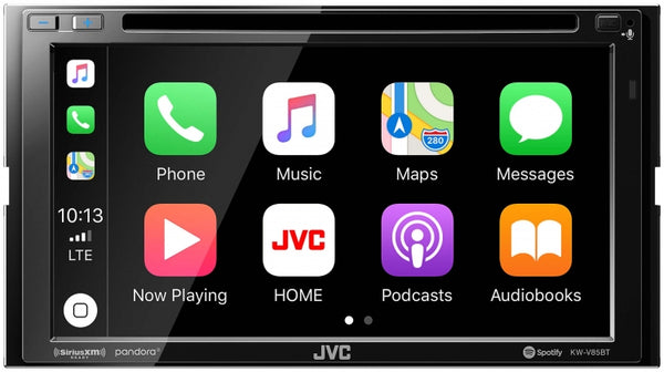 "JVC 6.8"" Double-DIN In-Dash DVD Receiver w/Bluetooth Apple CarPlay Android Auto & SiriusXM Ready"