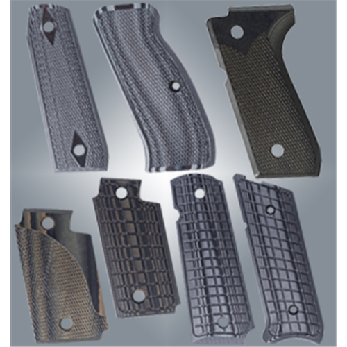 Lyman - Pachmayr G-10 Tactical Pistol Grips Color: Gray/Black Fit: 1911 Option: Fine