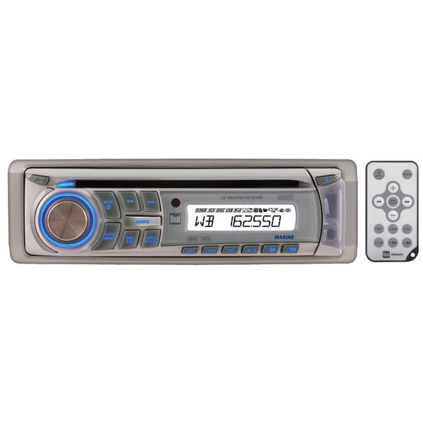 Dual Marine CD Receiver NOAA 7-Channel Weatherband Tuner Direct USB Control iPhone iPod