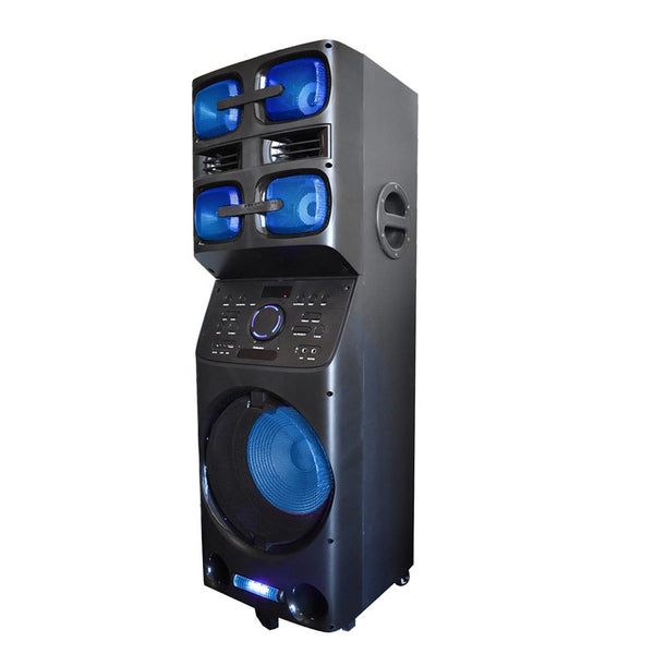 Axess Bluetooth PA Speaker w/5 Speakers 6400 Watts LED Disco Lights