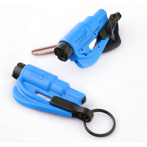 Resqme Blue Features: Window Breaker Seabelt Cutter Car Escape Tool