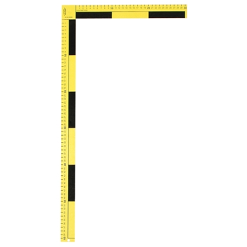 Sirchie - Photographic Folding Scale, yellow, 1.5  wide metric