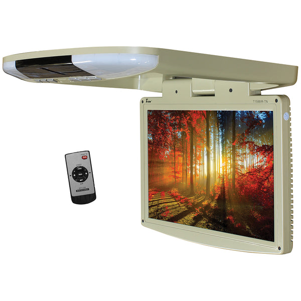 "Tview 15.4"" Wide Screen LED Flip Down Monitor (Tan)"