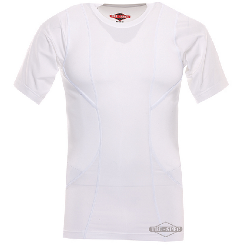 TruSpec - 24-7 Short Sleeve Concealed Holster Shirt Color: White Size: Small