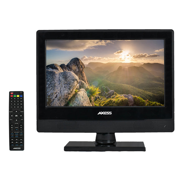 AXESS 13 Inch LED HDTV 720P 1xHDMI Headphone Inputs Digital Tuner with Remote