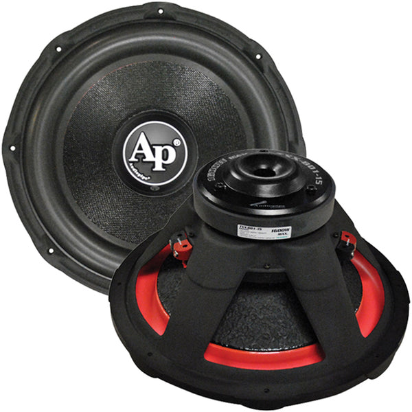 "Audiopipe 15"" Woofer 1600W Max 4 Ohm DVC"