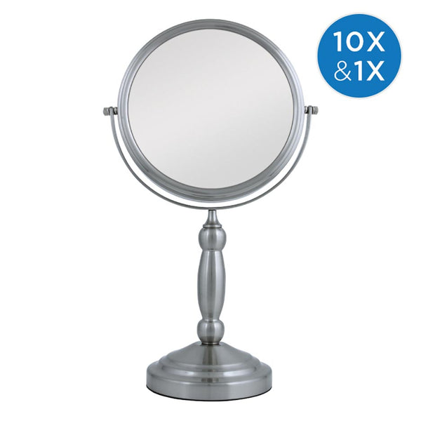 ZADRO TWO-SIDED SWIVEL MIRROR 1X & 10X MAG. SATIN NICKEL