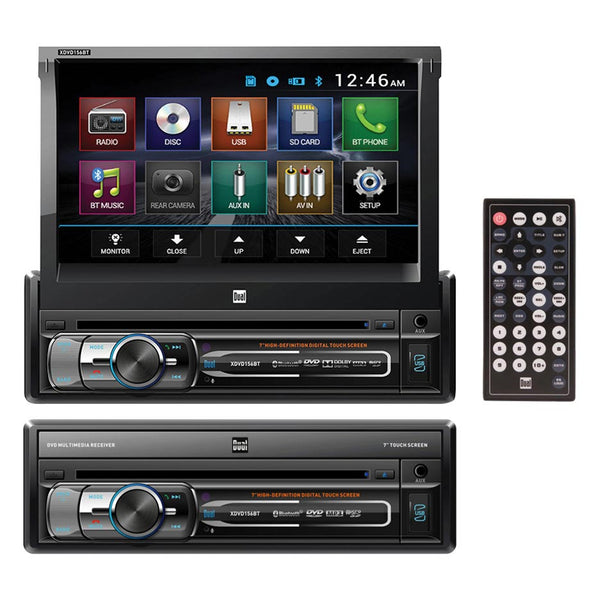 Dual 7 Single-DIN In-Dash DVD with Motorized Touchscreen