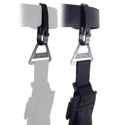 The ZT212-55 Combo Pack contains: (1) ZT212 Buckle and (1) ZT55 Key Ring Holder. Fits: 2.25  Belt and 2  x  3/16  Drop Leg Strap. The 212 Tactical Belt Clip System provides rapid one hand deployment for most drop leg thigh rigs. Metal hardware replaces OEM plastic hardware. Lifetime Guarantee.