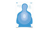 "Birchwood Casey Eze-Scorer 23""x35"" Transitional Blue Paper Target Indoor/Outdoor"
