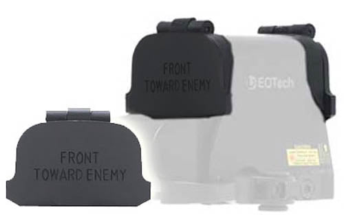 GG&G EOTech XPS Flip Lens Cover Black with Front Toward Enemy Engraving GGG-1272