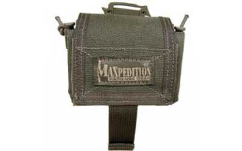 "Maxpedition Rollypoly MM Folding Dump Pouch 3""x6""x8"" 1000 Denier OD Green"