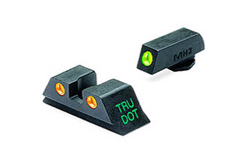 Meprolight Tru-Dot Fixed Night Sights For GLOCK 20/21/29/30 Green/Orange Steel 1