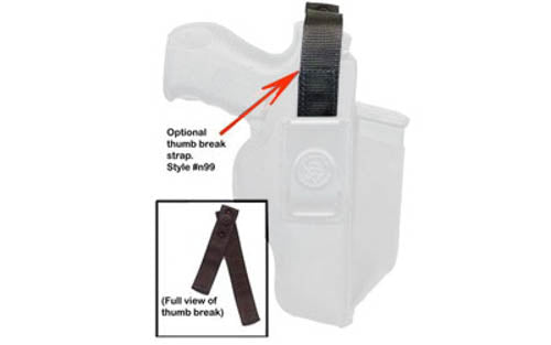 DeSantis Gunhide Thumb Break Strap with Snap Closure for N87 Holster Large Nylon