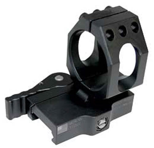American Defense Mfg. Aimpoint 30mm Low Mount with QD Lever 6061 T6 Aluminum Bla