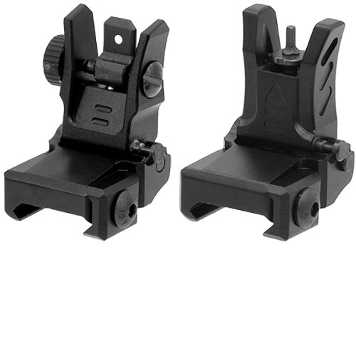 UTG Low Profile Flip-up Front & Rear Sight with Dual Aiming Aperture