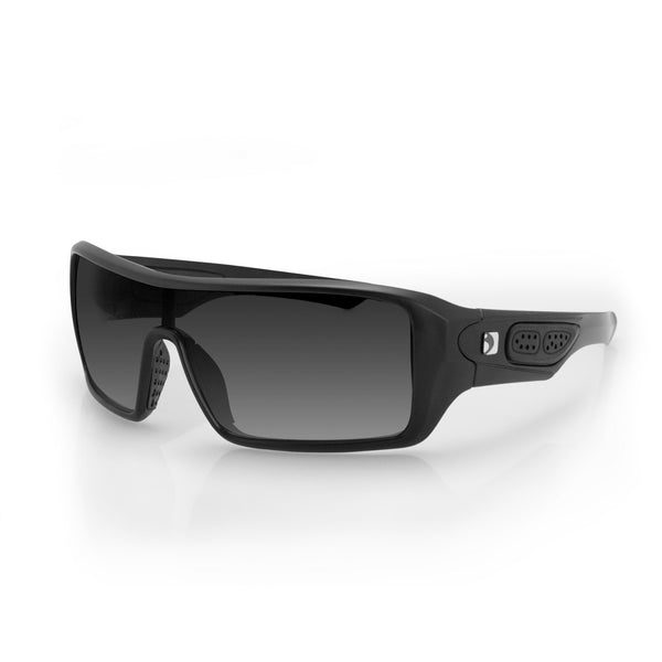 Bobster Paragon Sunglasses-Matte Black with Smoked Lenses