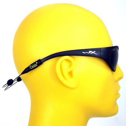Cablz Zipz Adjustable Sunglasses Holder Black 14in