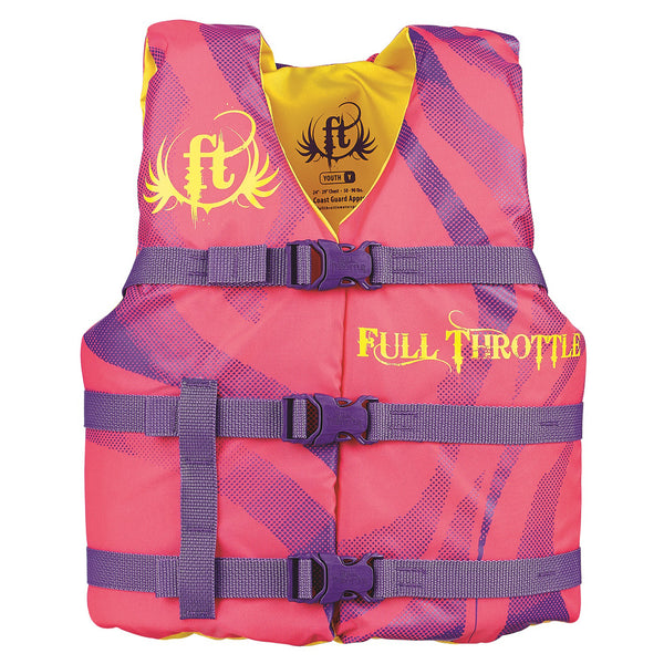 Full Throttle Youth Character Vest-Pink